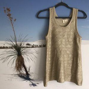 ANTHROPOLOGIE Metallic Glazed Sweater Tank